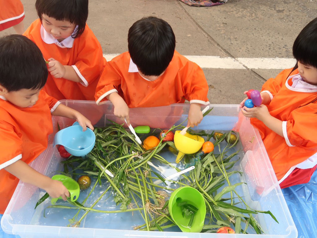 Sensory Play: Vegetables and Fruits