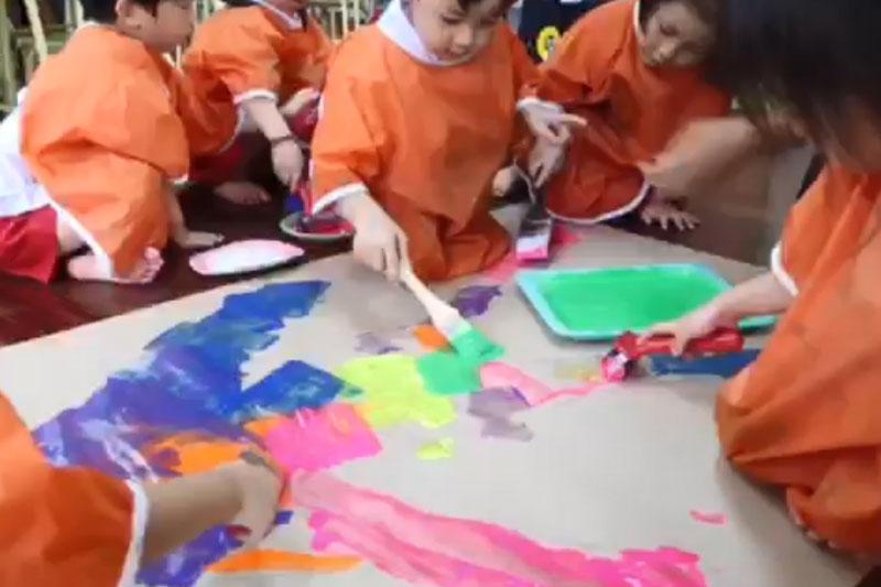 Process Art หน่วยตัวเรา Body Trace & Paint
