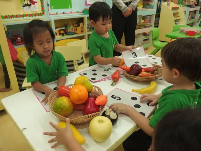 หน่วยผักและผลไม้ ชั้นเตรียมอนุบาล