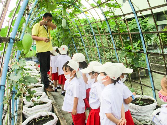 ทัศนศึกษาสวนเกษตรดาดฟ้า