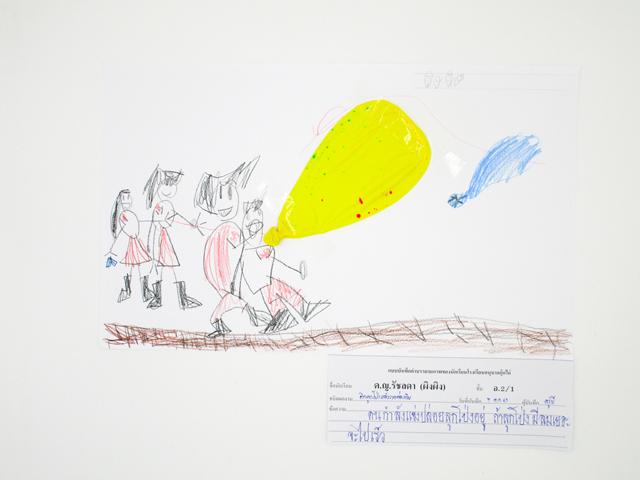 ผลงานของเด็กหน่วยอากาศ ชั้นอนุบาลปีที่2/1