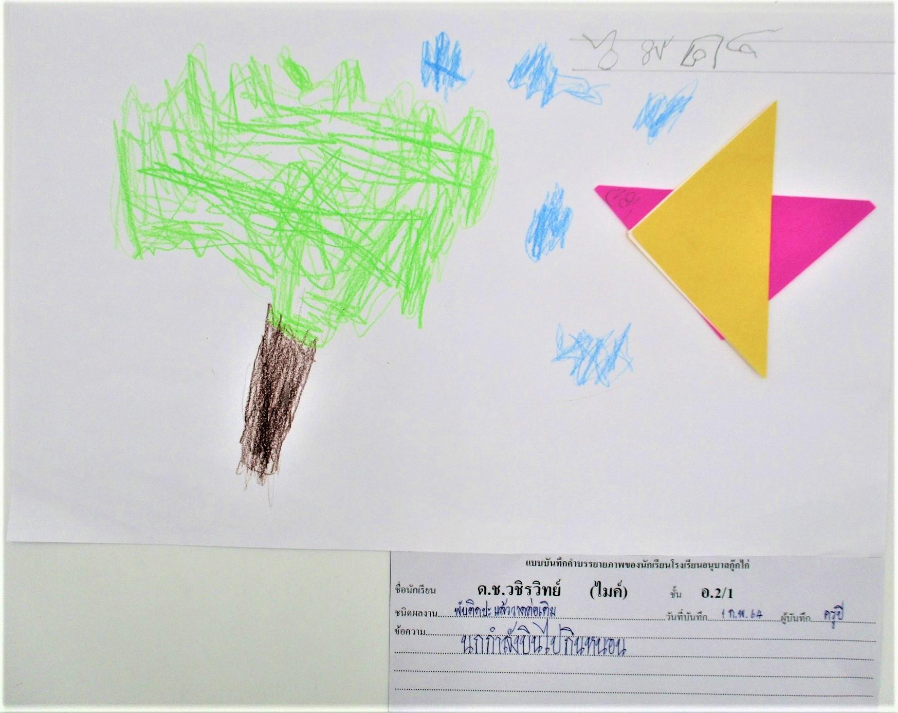 ผลงานเด็กหน่วย ธรรมชาติรอบตัว ชั้นอนุบาลปีที่ 2/1