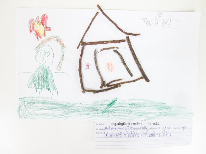 ผลงานเด็กหน่วย ธรรมชาติรอบตัว ชั้นอนุบาลปีที่ 2/2
