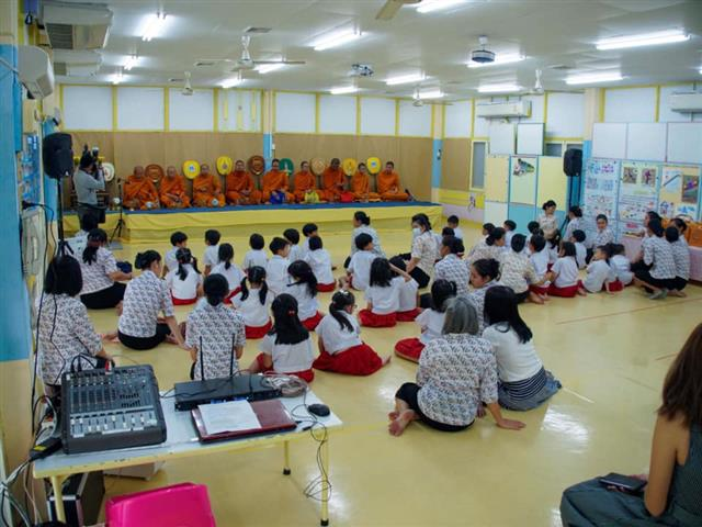 Buddhist Blessings Ceremony at School