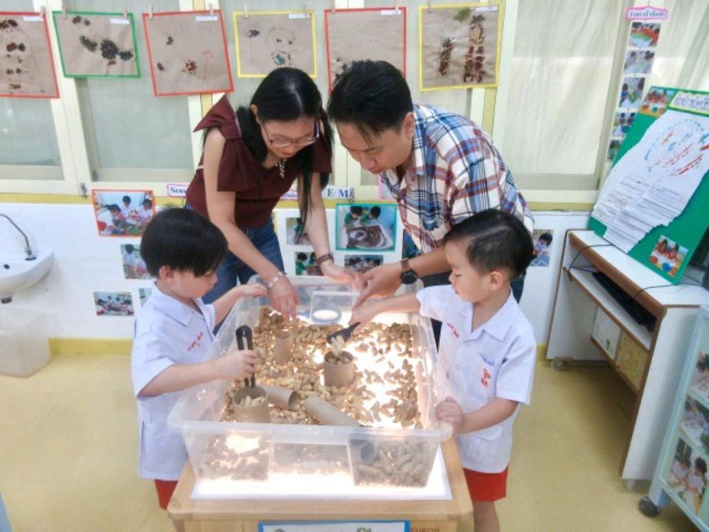 ผู้ปกครองเยี่ยมชม Project  Approach  เรื่องถั่ว