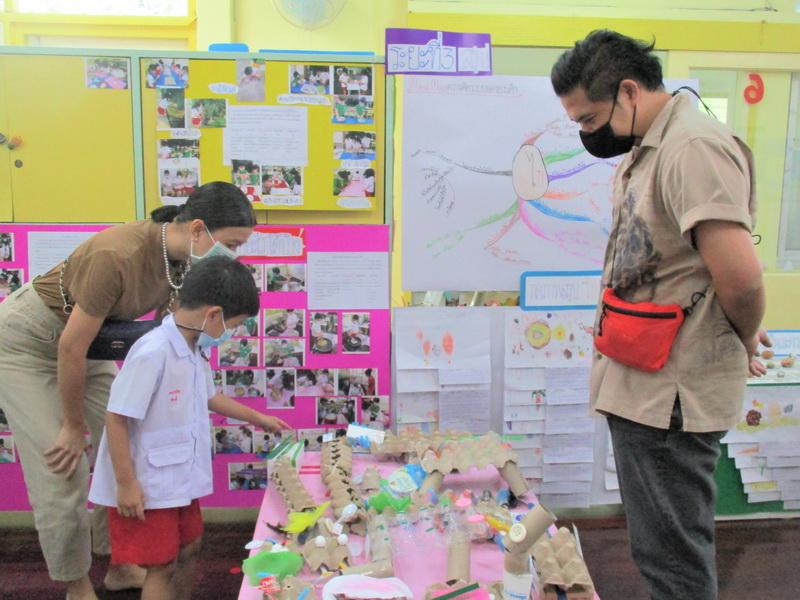 Parents visit the exhibition